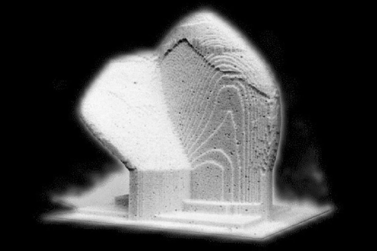 Sculpture City | 3d milled Cloud 010 | RAM Gallery Rotterdam 1994