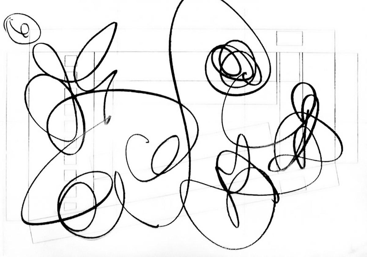 Polynuclear drawing for Fside | F Zuid Amsterdam 2007