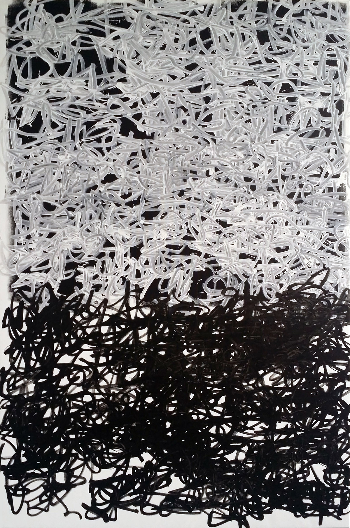 Tangle # 08 | 120x180cm | acrylic marker on canvas